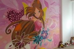 malba-Flora-víla-dětský-pokoj