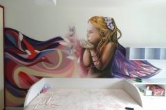 víla-malba-v-dětském-pokoji
