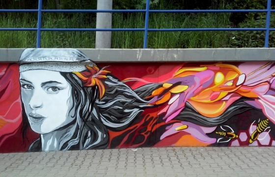graffiti art obec