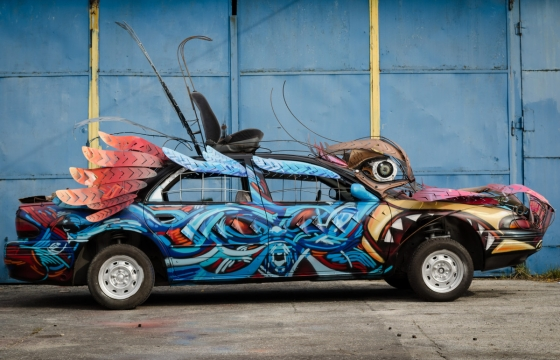 graffiti auto car