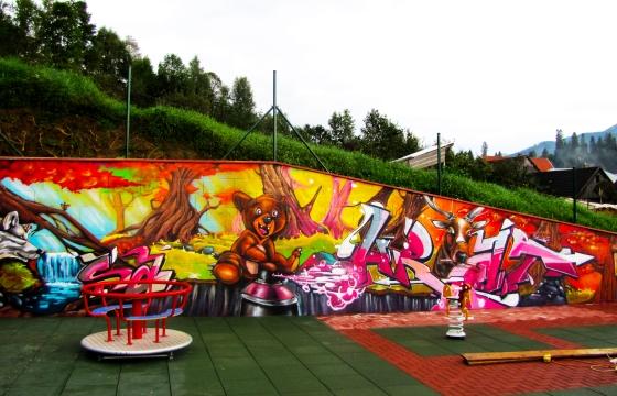 hřiště graffiti návrh