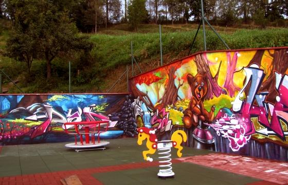 hřiště graffiti design