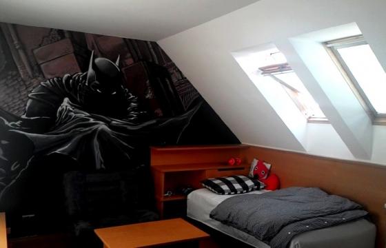 dětský pokoj graffit batman